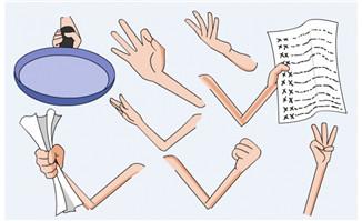 手 手臂 动作素材flash-1