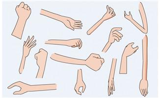手 手臂 动作素材flash-3