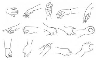 手绘手势动作矢量素材4