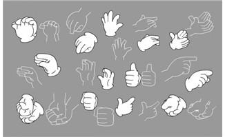 手套手势矢量素材7