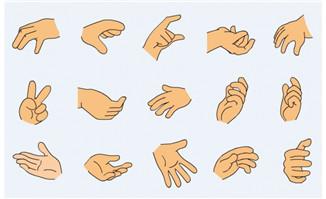 flash手型 - flash二维动画素材mg动画制作矢量图素材扁平化设计免费