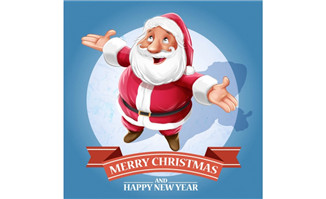 可爱卡通圣诞老人人物矢