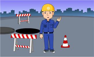 道路施工人员解说动作f