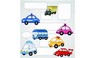 卡通交通车辆矢量(9)