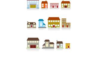 各种小房子矢量01