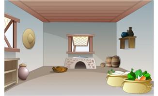 flash古代场景卡通素材厨房