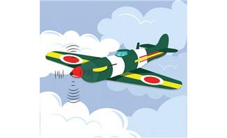 空中的彩色战斗飞机矢量