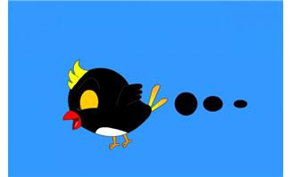 卡通乌鸦飞翔flash动画