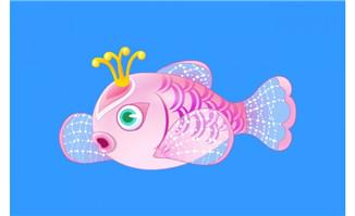 可爱的鱼摆动flash动画