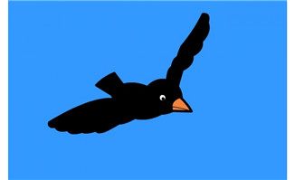 乌鸦飞翔flash动画