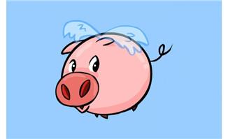 长翅膀飞动的小猪flash动画