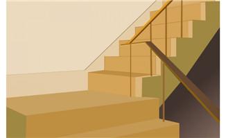 flash动画素材精致教室楼梯