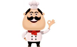 卡通人物厨师3d动漫形象