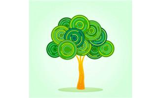 创意绿色树木矢量素材