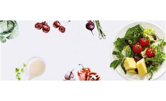 健康沙拉蔬菜美食俯视海