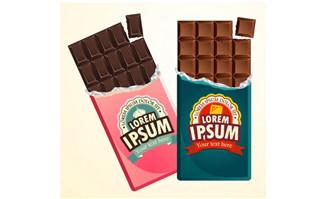 2款美味巧克力板矢量素材