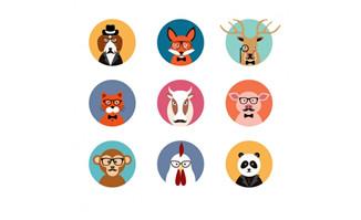 动物头像矢量图_flash二维动画素材mg动画制作矢量图素材扁平化设计