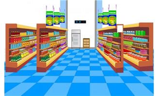 flash场景超市货架场景