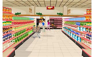 flash超市场景素材
