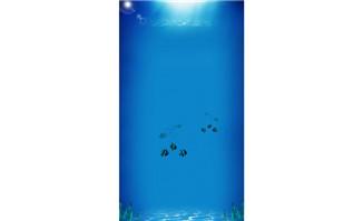 海洋蓝色H5质感psd源文件分