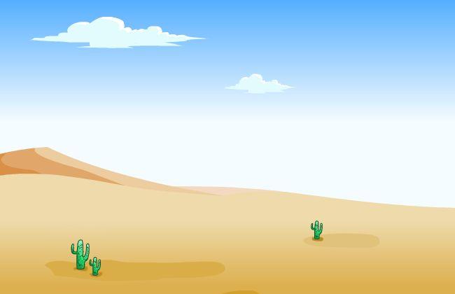 蓝天白云沙漠flash动画场景素材