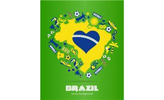 巴西世界杯矢量海报设计