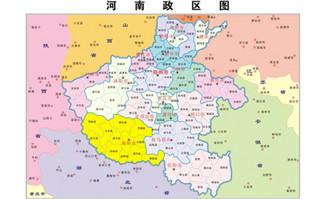 河南行政区域-矢量地图