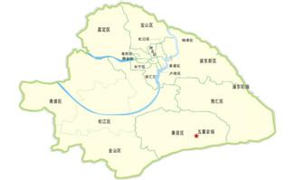 上海市简易地图矢量素材