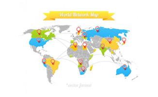 世界地图矢量图片素材