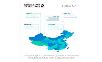 中国地图信息图表矢量图