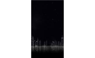 城市建筑黑色星空H5背景