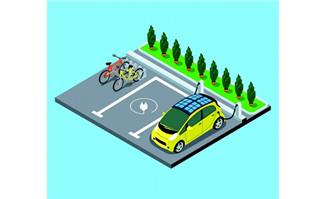 三维立体停车位和周边绿
