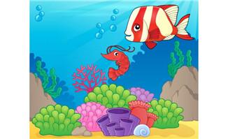 卡通海底世界矢量素材3_flash二维动画素材mg动画制作矢量图素材扁平