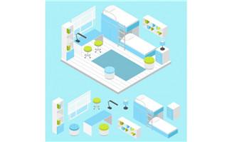 卡通卧室设计素材图片