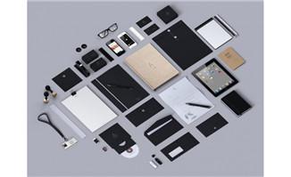 品牌VI系统贴图黑色调系列