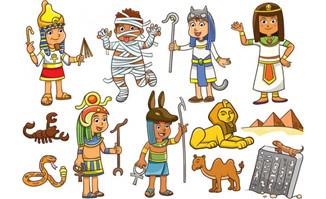 卡通儿童矢量素材(12)