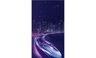 紫色动感科技地铁PSD分层