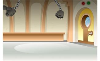 flash动画场景素材设计室内-温馨的客厅场景设计flash动画二维场景素材图片