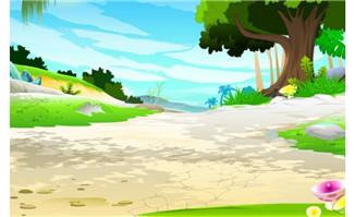 动画场景 flash二维动画素材mg动画制作矢量图素材扁平