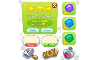 游戏矢量图UI交互游戏动画