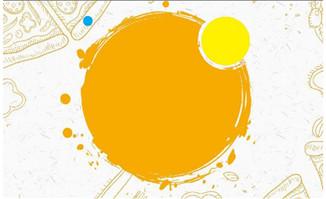 手绘图标背景图案黄色主