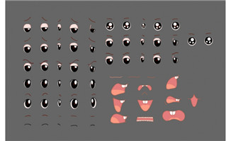 Flash角色各种动态眼睛及嘴