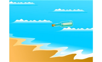 卡通漂流瓶falsh动画下载