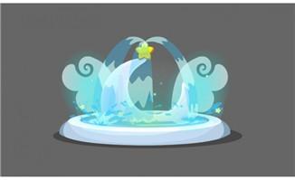 喷泉flash动画制作小动画