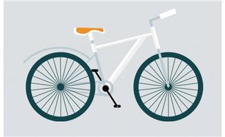 白色自行车矢量图素材免