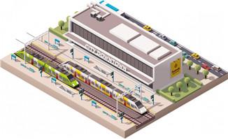 工厂建筑3d模型设计矢量素