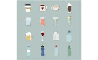 16款扁平化设计下载饮品图