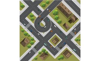 城市3d建筑立交桥模型图片