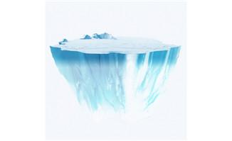 夏日冰山元素png免抠图素