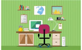 扁平化设计素材室内空间